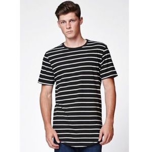 PacSun Other - Extended longer length striped tee On The Byas