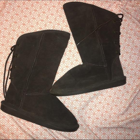 Bearpaw Lace Up Back Boots   Poshmark