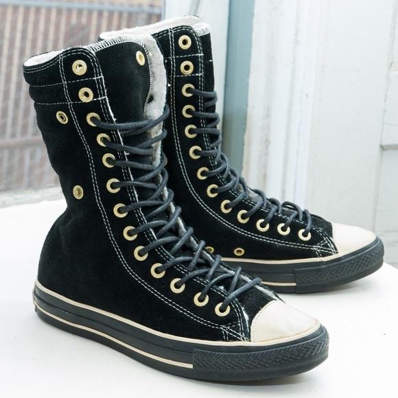 0399169df5fa0c Converse Shoes - Converse Chuck Taylor Knee Hi Leather shearling