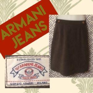 "Armani Jeans Dresses & Skirts - Armani Jeans gray skirt, 29"" waist"