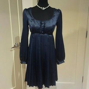 Max & Cleo Dresses & Skirts - Blue Max and cleo satin pleated dress