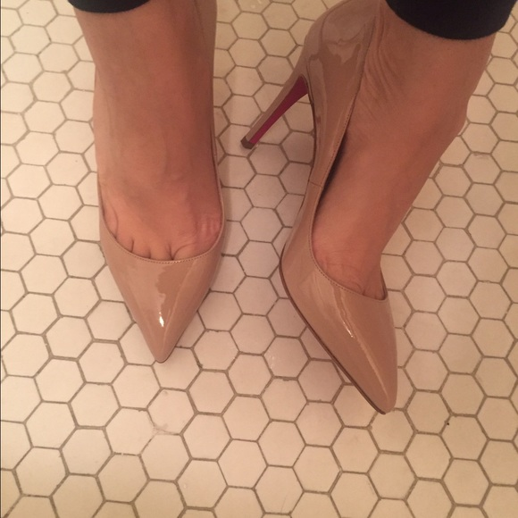 63511f761f48 Christian Louboutin Shoes - Pigalle 85mm Nude Patent Leather Pump