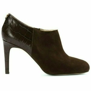 Michael Kors Shoes - New! MICHAEL KORS Bootie Suede Croc Ankle Boots