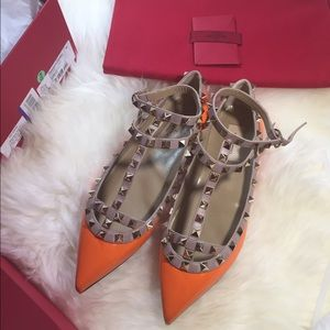 Valentino Garavani Shoes - Authentic Valentino Rockstud Cage Flats