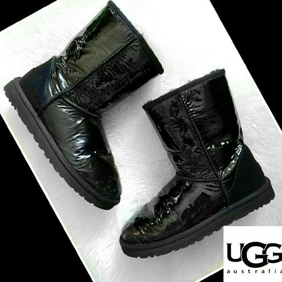 08f66746609 SALE UGG boots black sheepskin patent leather 7