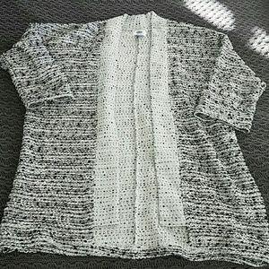 Boucle kimono style cardigan
