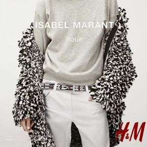 Isabel Marant Pour H&M Shaggy Loop Jacket Small