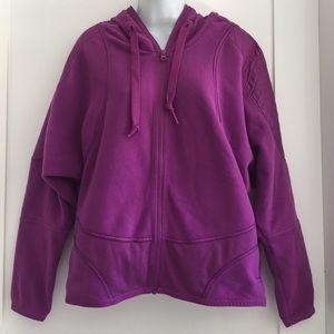 Adidas by Stella McCartney Tops - Stella McCartney Purple Fleece Hoodie size L