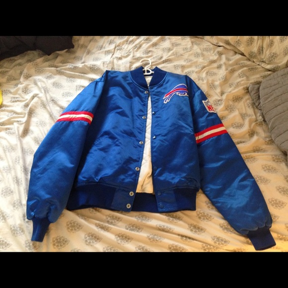 d0176558 Buffalo Bills Satin Bomber Starter Jacket