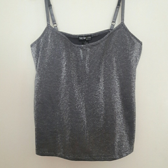 Style & Co Tops - Silver Metallic  Top