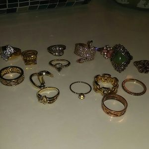 Jewelry - 15 pc. Faux Gold Ring Bundle