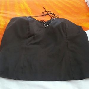 Lane Bryant Brown Halter Top.