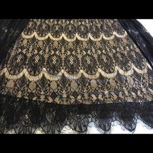Black Lace Maxi Skirt
