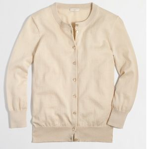 """J. Crew Sweaters - J. Crew """"The Clare"""" Cardigan in Champagne color"""
