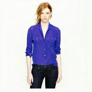 J. Crew Tops - J. Crew Silk Blouse