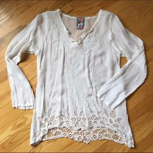 Johnny Was Tops - Johnny Was embroidered blouse - xsmall