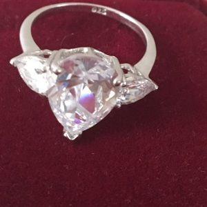 voltaire Jewelry - Beautiful pear Swarovski diamond ring looks real