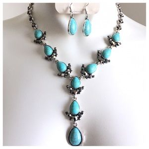 Jewelry - New- Burnished Silver Necklace Set