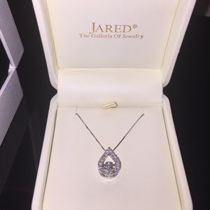 Jared Lang Jewelry - Jared teardrop diamond necklace.