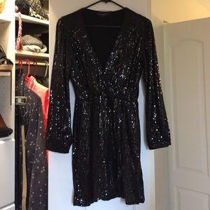 AKIRA Dresses & Skirts - 💥Akira Black Fully Sequin Dress💥
