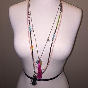 Jewelmint Jewelry - Jewelmint 3 layer long boho necklace