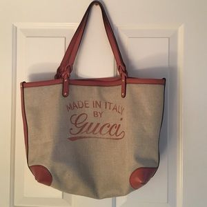 9bec9895ec9d Gucci Bags   Made In Italy Craft Canvas Tote   Poshmark