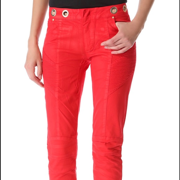 Red biker jeans Balmain New Arrival For Sale Best Online zMDUnu