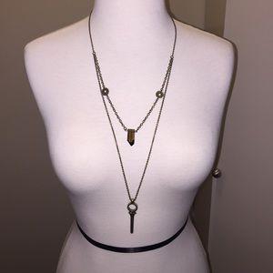 Jewelmint Jewelry - Jewelmint layered necklace wth crystal and key