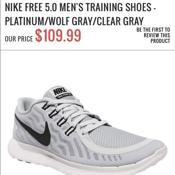 Men Nike Free 5.0 Betrue Running Shoe Dark Grey Wolf