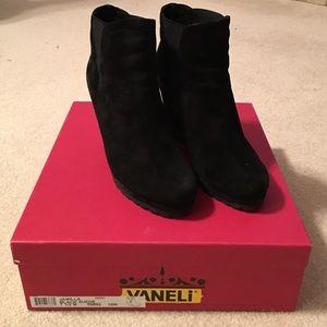 Vaneli Shoes - Vaneli suede wedge booties