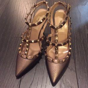 Valentino Shoes - Valentino Rockstud Caged Heels