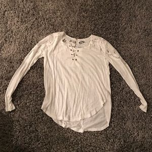 Free people white S lace up
