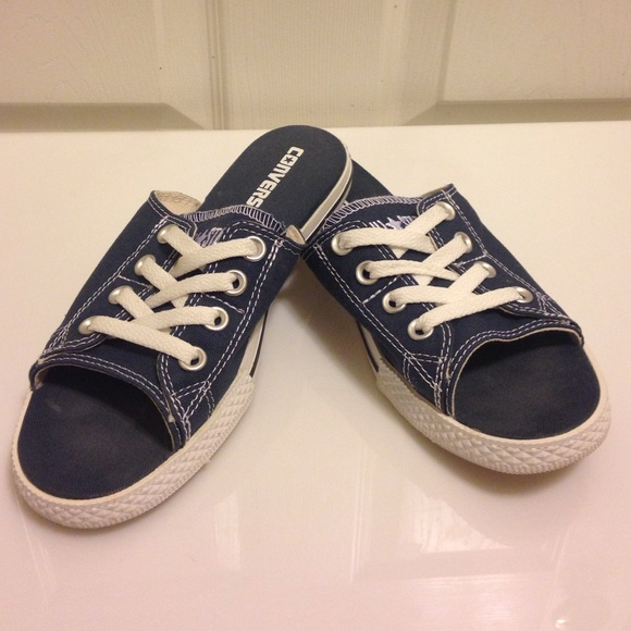 b4866089e03f Converse Shoes - Women s NAVY Open Toe Chuck Taylors