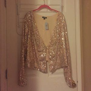 Gold Sequin Jacket (Torrid/Plus Size/3X)