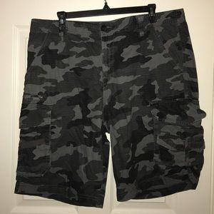 Tilly's Other - Men's Dark Grey Camo Cargo Shorts