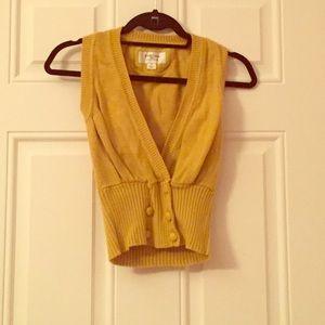 Heritage 1981 Tops - Gold Crop Top Sweater Vest