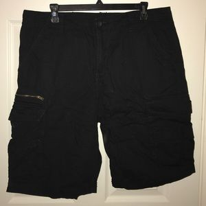 Tilly's Other - Subculture Mens Black Ripstop Cargo Shorts