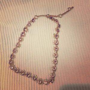 Givenchy crystal rose gold choker and bracelet set
