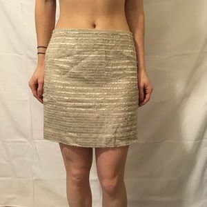 Alice + Olivia Dresses & Skirts - Alice + Olivia Tan Metallic Fuzzy Knit Mini Skirt