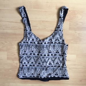 UO cropped tank with open back NWOT
