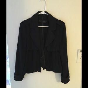 Zara basic short trench jacket size M