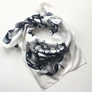Chanel Camelia Silk Square Scarf