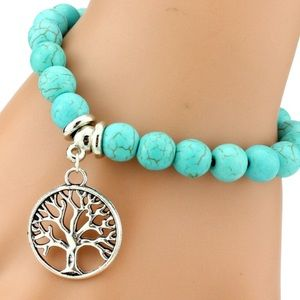 Nordstrom Jewelry - Turquoise & Silver Tree of Life Bracelet