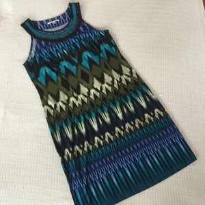 Studio One Tribal Print Halter Shift Dress