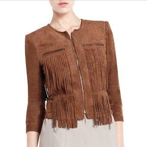 BCBG Maxazria fringe jacket