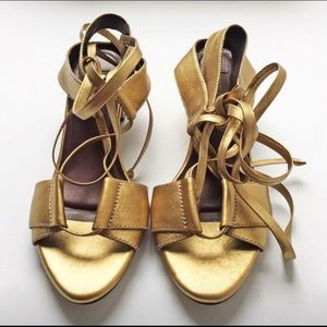 Carlota denim Studio Colombia shoes sandals gold 8