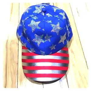 Justice Other - Justice American flag baseball hat NWT cute girls