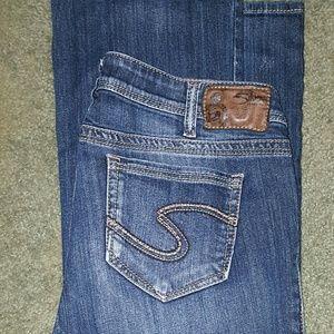 Size 14 Silver Jeans Billie Jean