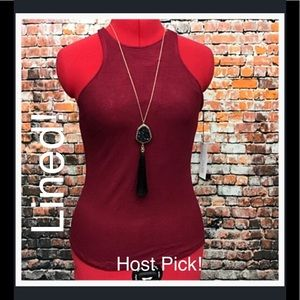 Atid Clothing Tops - 🎉HP🎉 Atid LINED Recall Top in Red Wine