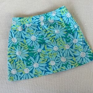 Lilly Pulitzer Pants - Lilly Pulitzer Turquoise Blue Floral Print Skort